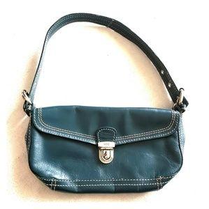 Mango Teal Leather 2001 purse